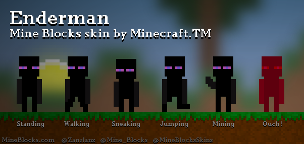 Mine Blocks Enderman Skin By Minecrafttm