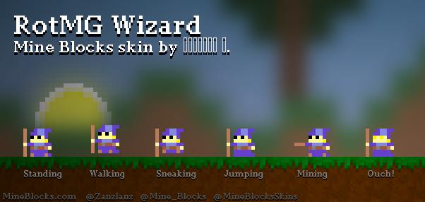 mine blocks rotmg wizard skin by Андрија М