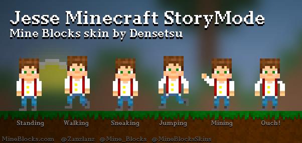 minecraft story mode jesse skin