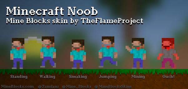 Mine Blocks Minecraft Noob Skin By TheFlameProject - Noob skins fur minecraft