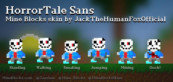 Mine Blocks - 'HorrorTale Sans' skin by JackTheHumanFoxOfficial