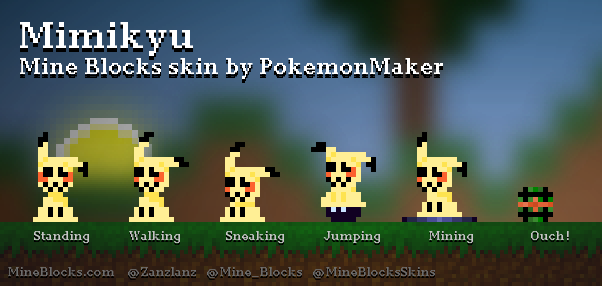 Mine Blocks Mimikyu Skin By Pokemonmaker